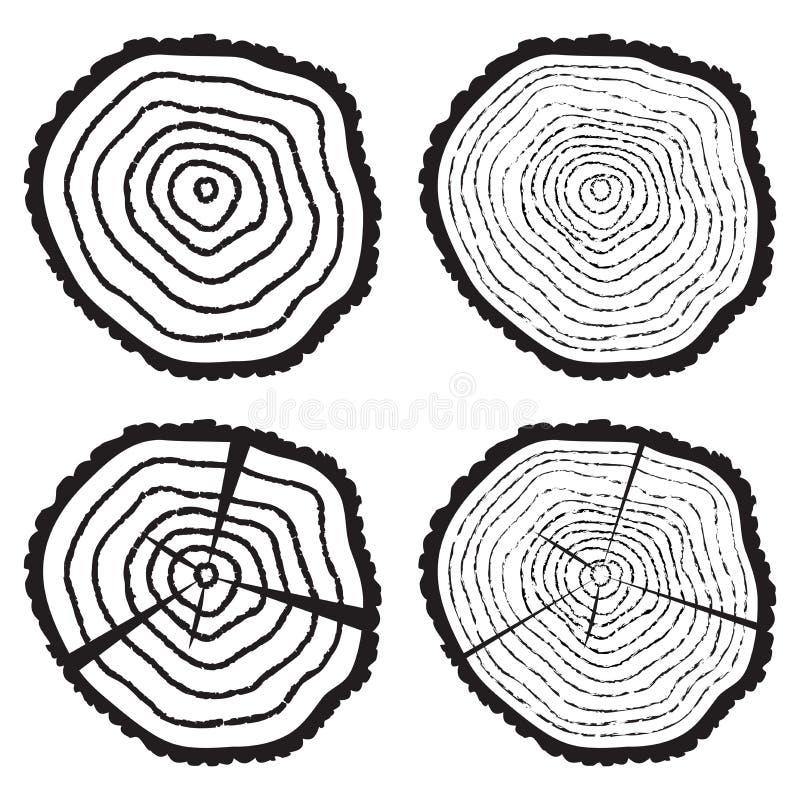 Corte de madera de un registro del árbol libre illustration