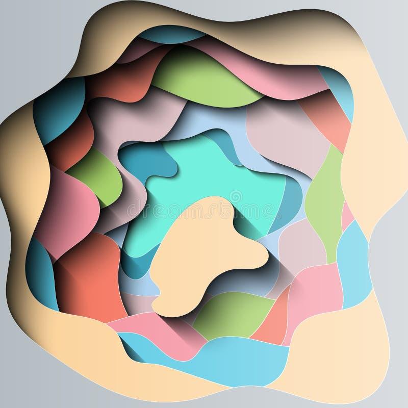 Corte de papel acodado extracto libre illustration
