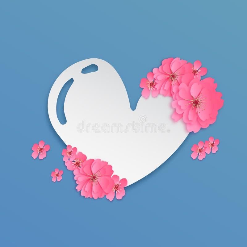 Corte de papel eps 10 do símbolo do amor ilustração stock