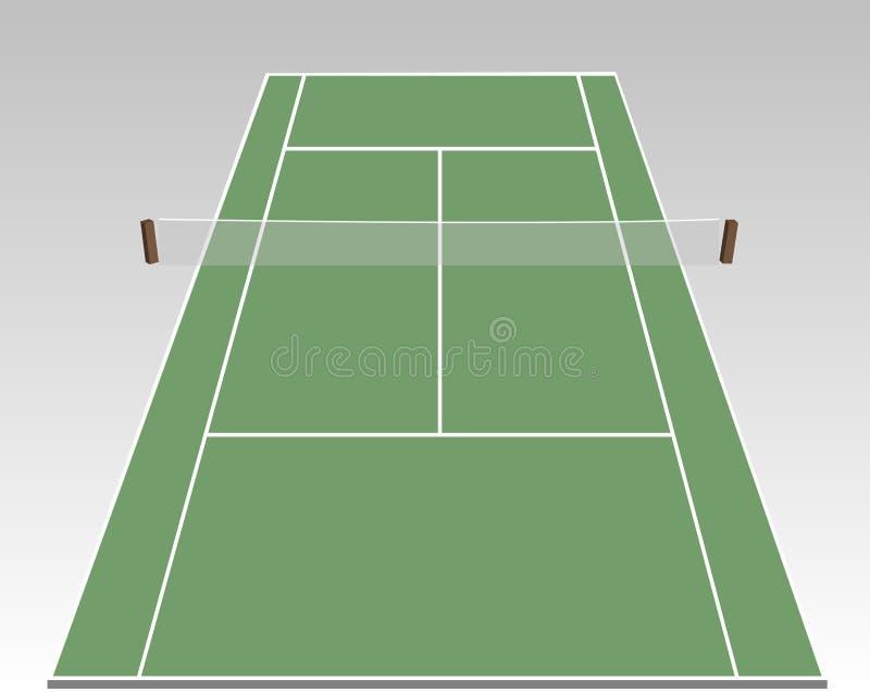 Corte de tênis ilustração royalty free