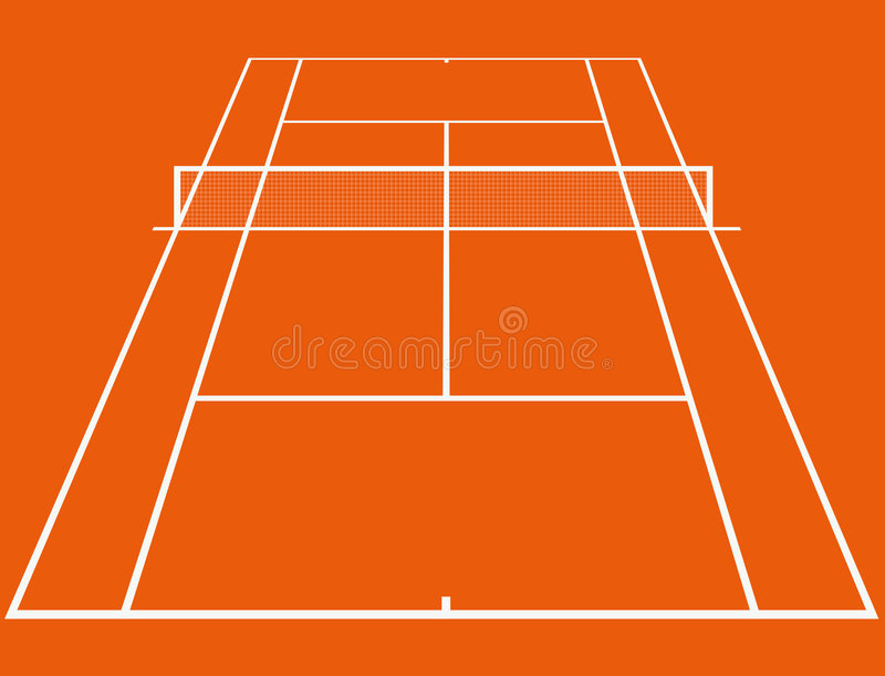 Corte de tênis ilustração stock