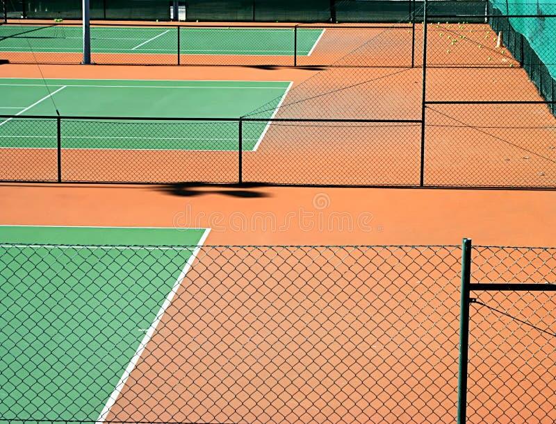 Corte de tênis fotografia de stock royalty free