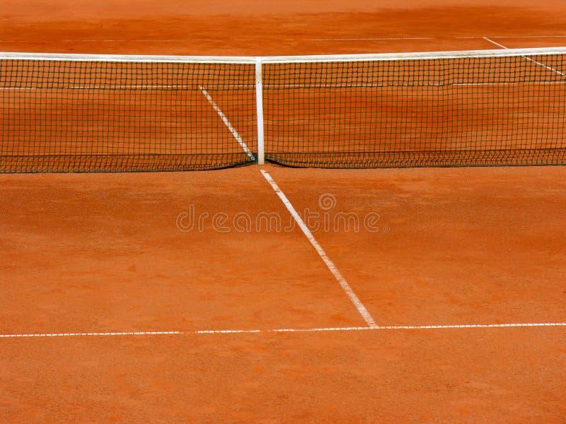 Corte de tênis da argila fotografia de stock