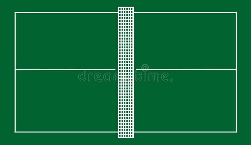 Corte de tênis da tabela ilustração royalty free