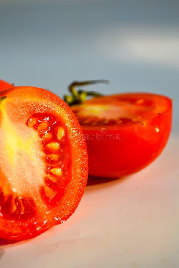 Corte de tomate fotografia de stock