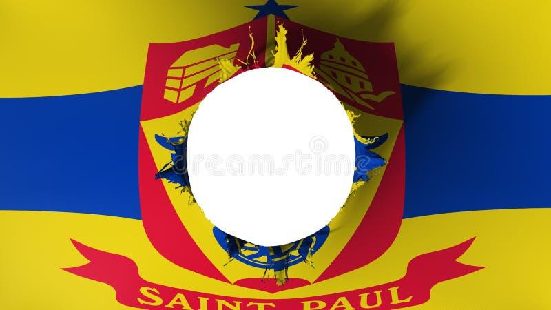 Corte del agujero en la bandera del capital de Saint Paul libre illustration