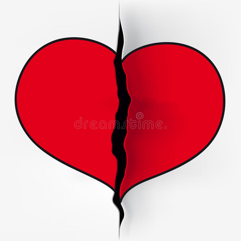 Corte del corazón ilustración del vector