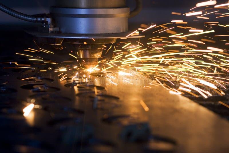 Corte del laser fotografía de archivo