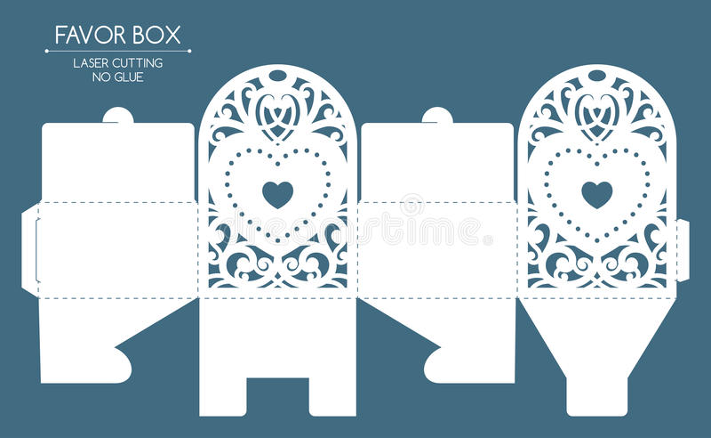 Corte del laser de la caja del favor libre illustration