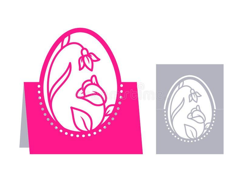 Corte del laser de Pascua libre illustration