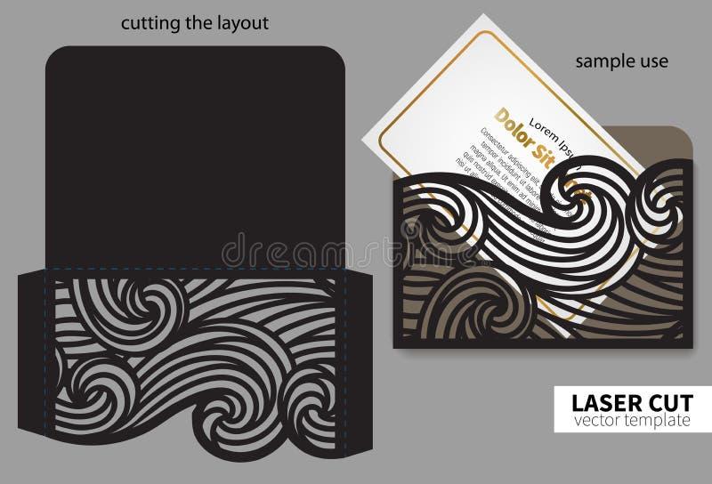 Corte del laser del vector stock de ilustración