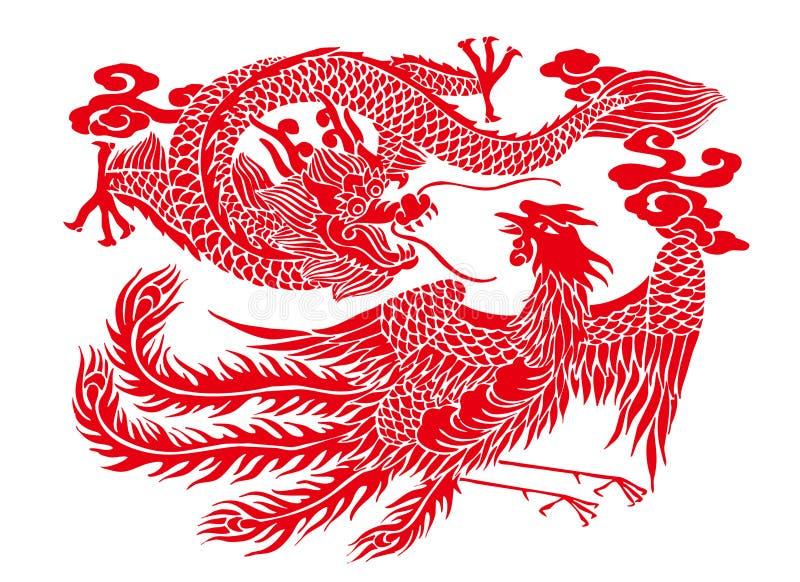 Corte del papel chino ilustración del vector