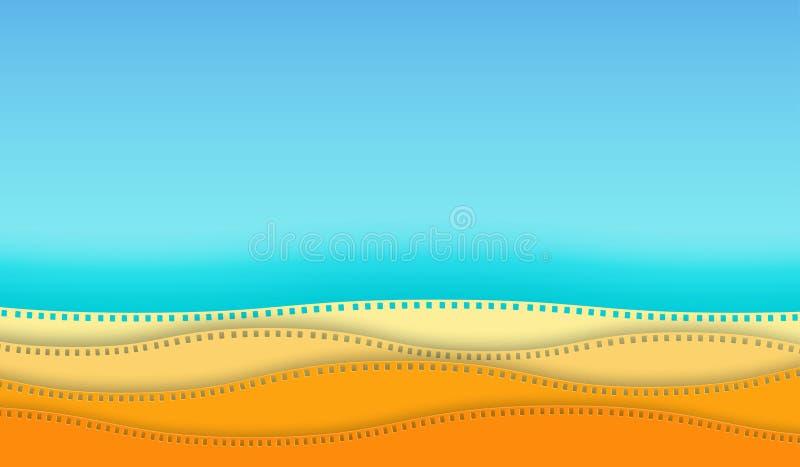 Corte del papel de la tira de la pel?cula del cine de la onda aislado en fondo colorido c?mara de 35 mil?metros diapositive para  libre illustration
