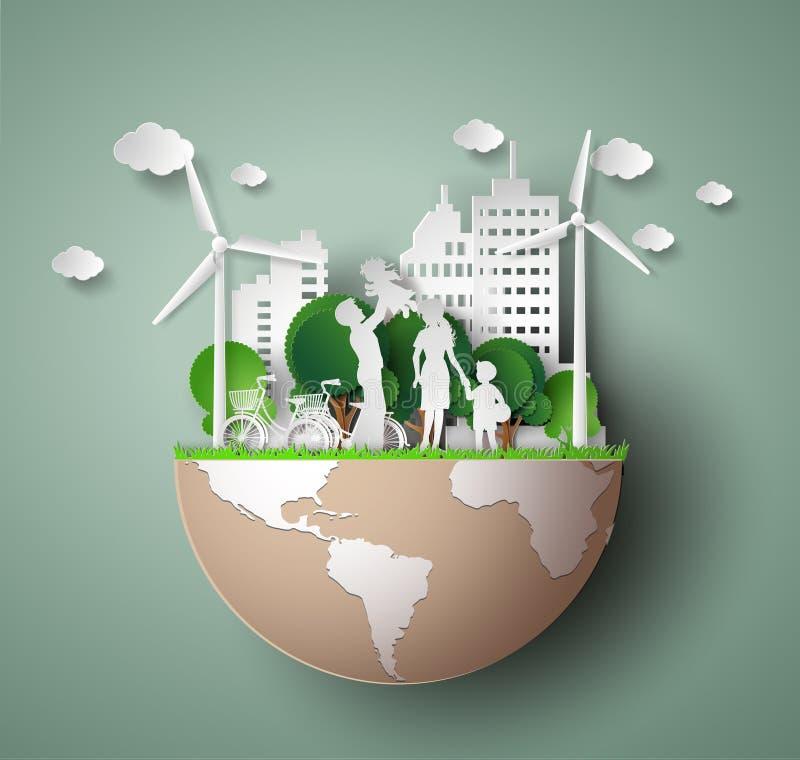 Corte del papel del eco libre illustration