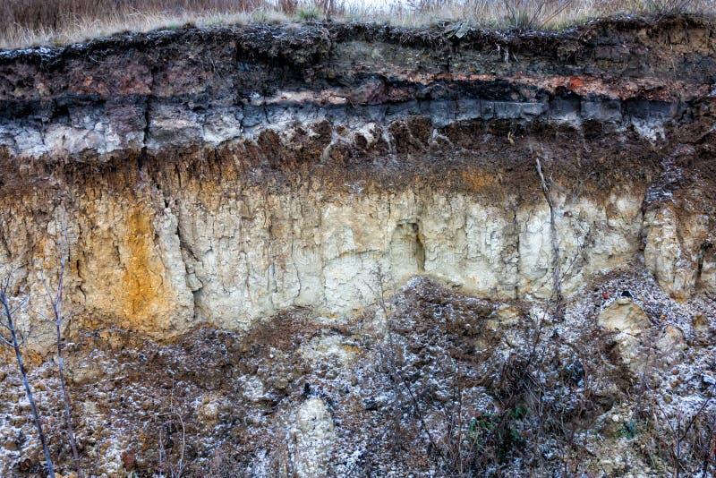 Corte del suelo foto de archivo