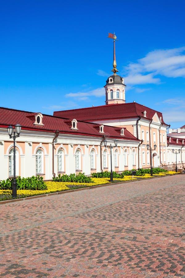 Corte dell'artiglieria, Cremlino di Kazan fotografie stock libere da diritti