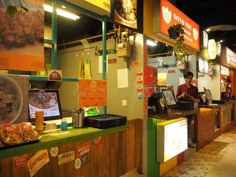 Corte di alimento in Tangerang immagini stock