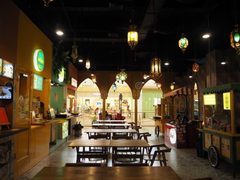 Corte di alimento in Tangerang fotografie stock