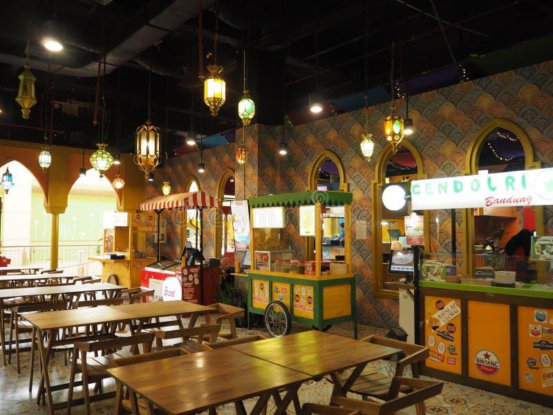 Corte di alimento in Tangerang fotografia stock libera da diritti