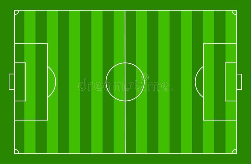 Corte di calcio di vista superiore illustrazione vettoriale