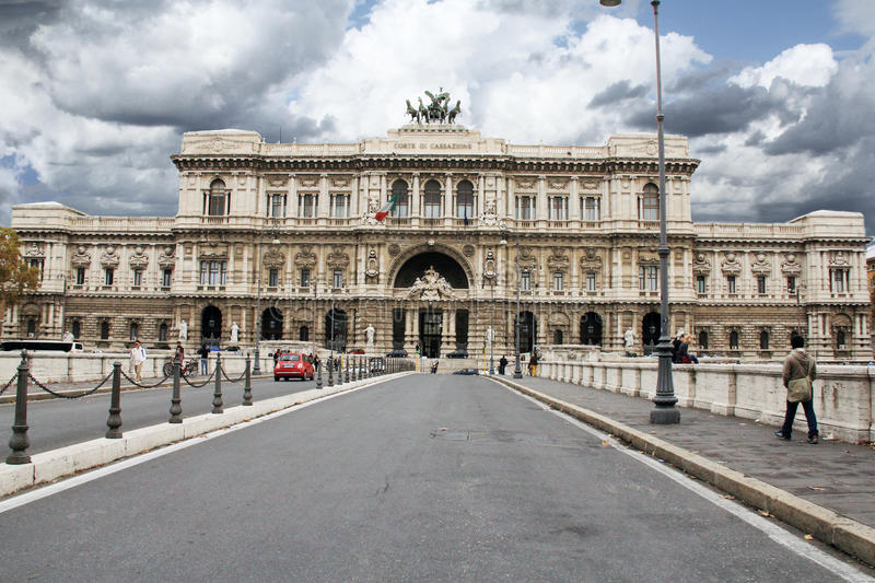 Corte di Cassazione, Palace of Justice in Rome. The Palace of Justice, the seat of the Supreme Court of Cassation and the Judicial Public Library is designed by stock photography