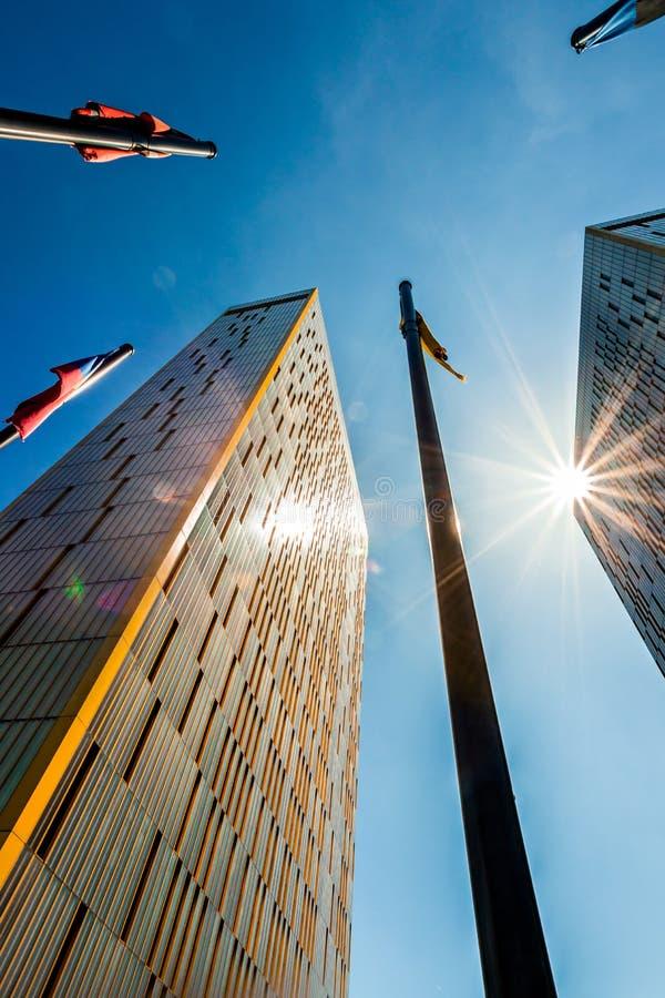 Corte di giustizia delle Comunità europee a Lussemburgo fotografia stock
