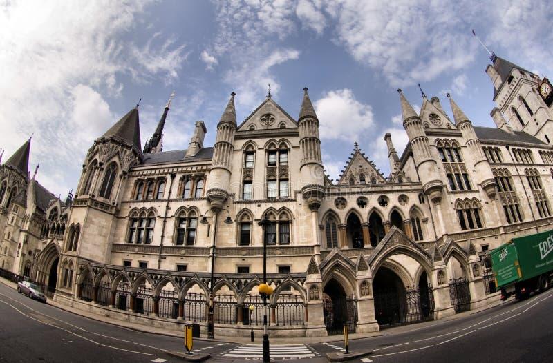 Corte di Giustizia reale a Londra immagini stock