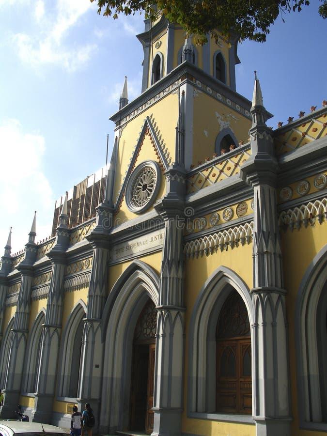 Corte di Giustizia suprema storica che costruisce Caracas Venezuela fotografie stock