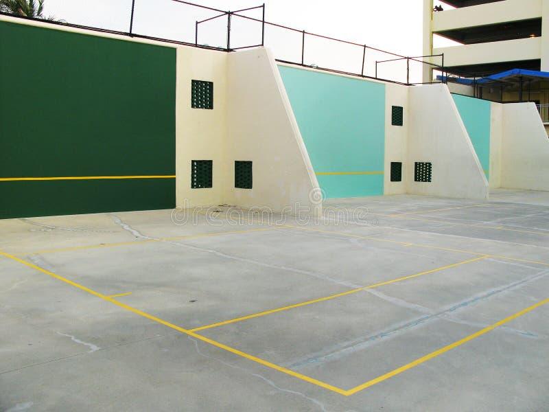 Corte di pallamano e di racquetball fotografia stock
