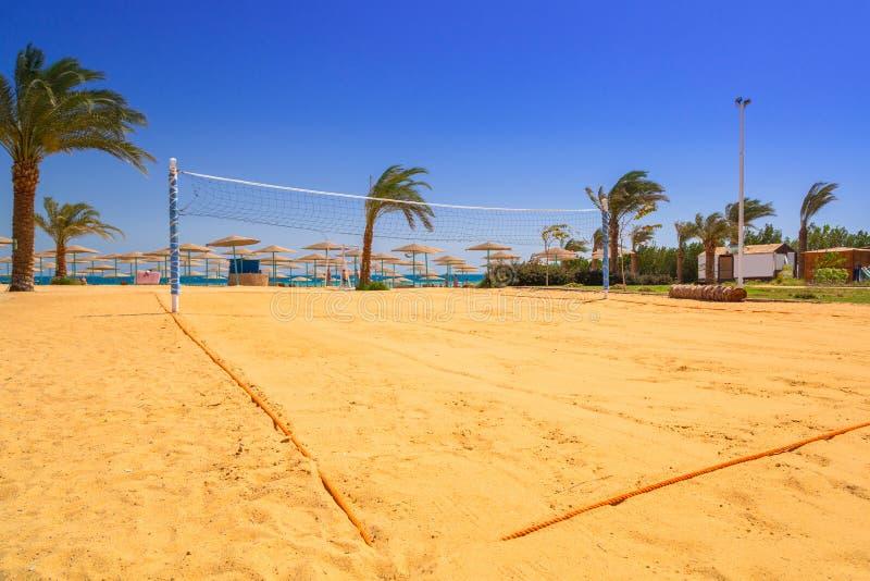 Corte di pallavolo sulla spiaggia del Mar Rosso fotografie stock
