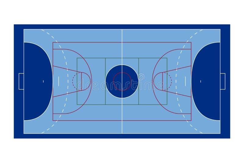 Corte di sport illustrazione vettoriale