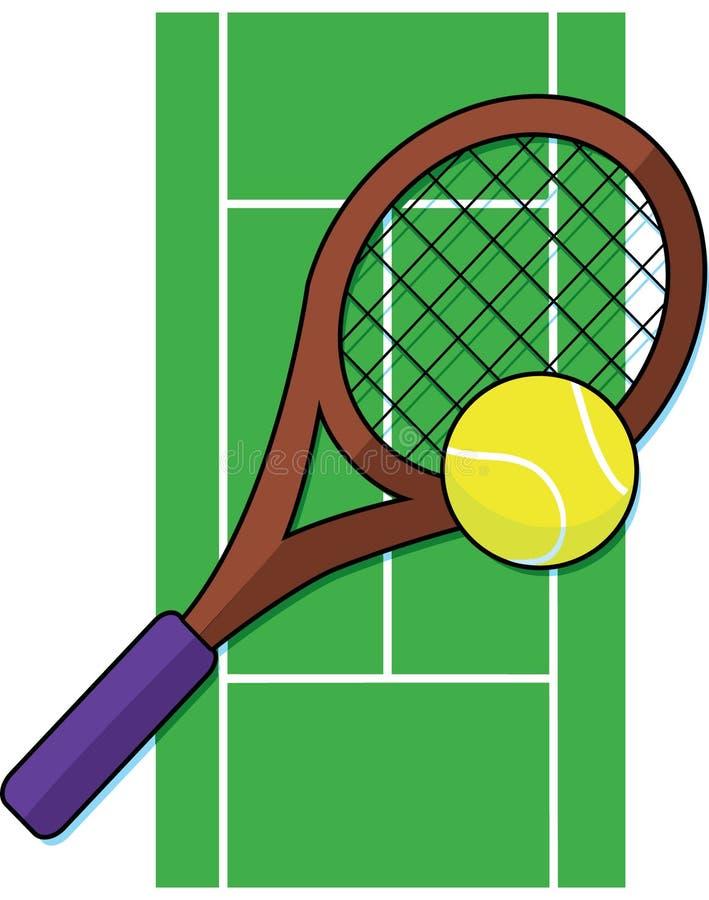 Corte di tennis illustrazione vettoriale