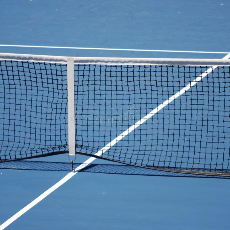 Corte di tennis blu fotografia stock