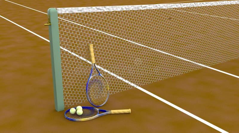 Corte di tennis dell'argilla illustrazione vettoriale
