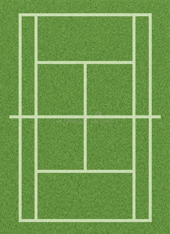Corte di tennis dell'erba royalty illustrazione gratis
