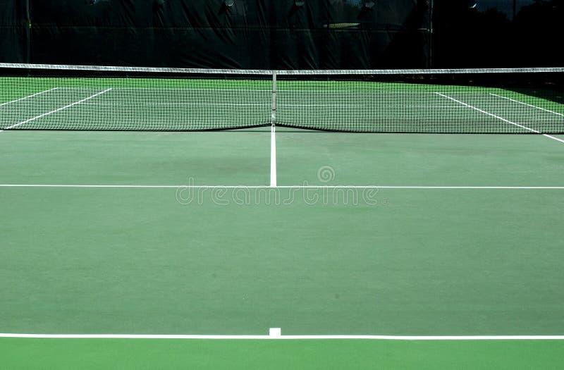 Corte di tennis intera fotografie stock