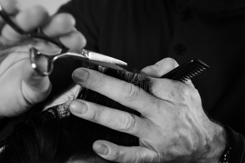 Corte do cabelo fotografia de stock