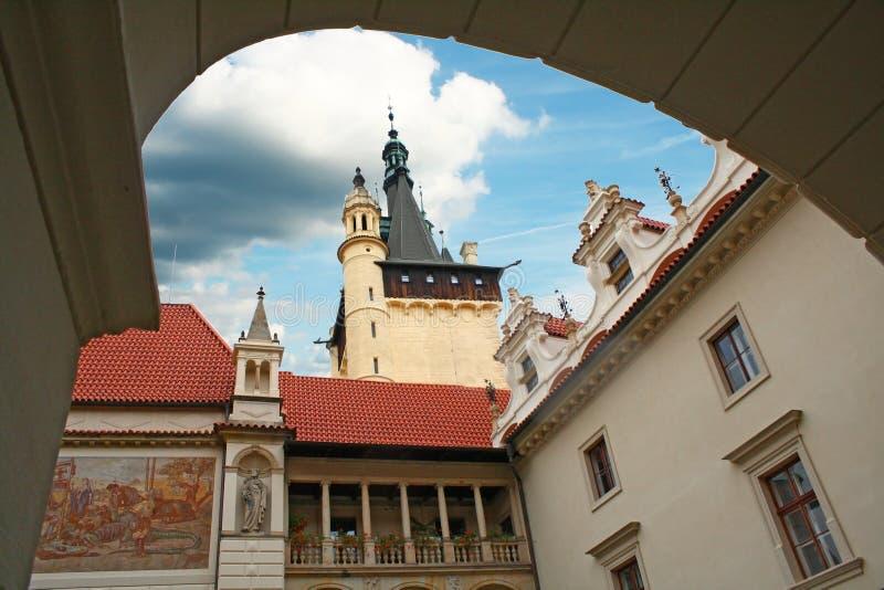 Corte do castelo foto de stock royalty free