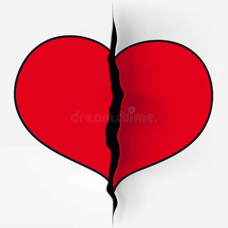Corte do coração ilustração do vetor