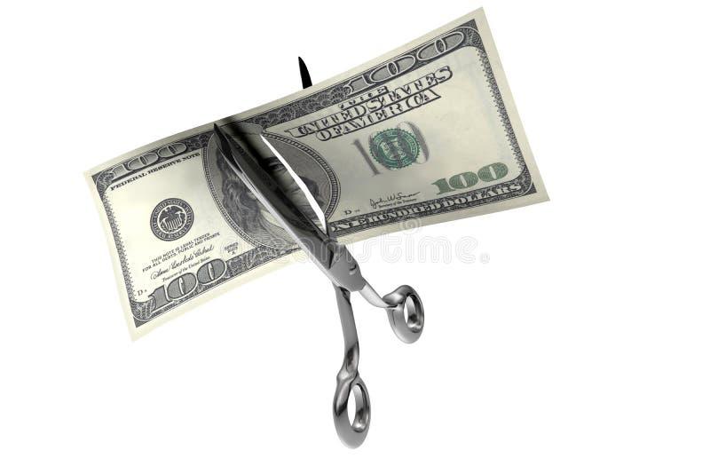 Corte do dinheiro ilustração stock