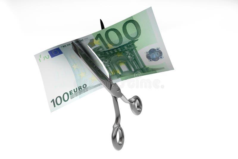 Corte do dinheiro ilustração royalty free