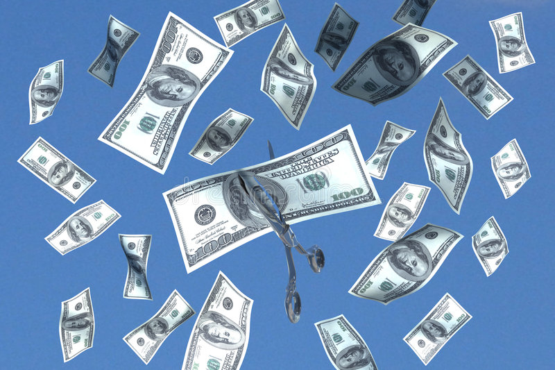 Corte do dinheiro ilustração do vetor