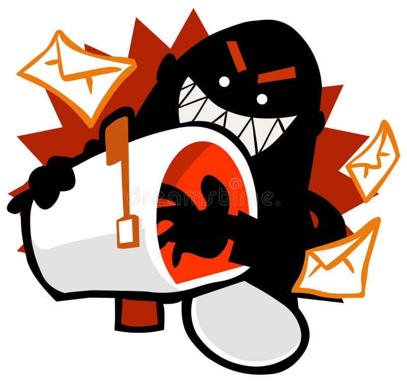 Corte do email ilustração stock