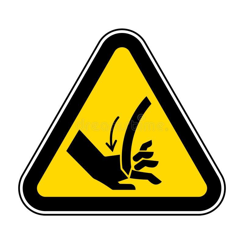 Corte do isolado curvado mão do sinal do símbolo da lâmina no fundo branco, ilustração EPS do vetor 10 ilustração do vetor