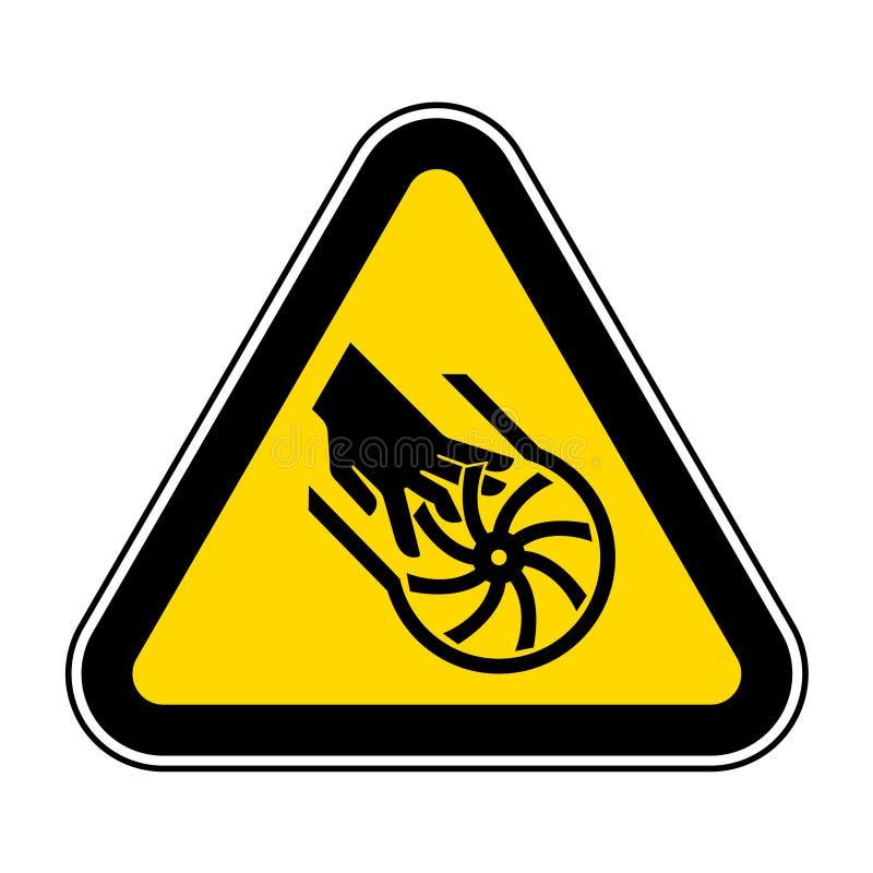 Corte do isolado do sinal do símbolo da lâmina do impulsor dos dedos no fundo branco, ilustração EPS do vetor 10 ilustração stock