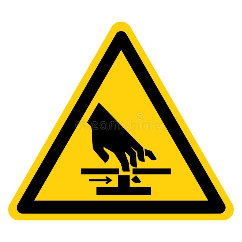 Corte do isolado do sinal do símbolo das peças móveis da mão no fundo branco, ilustração do vetor ilustração do vetor