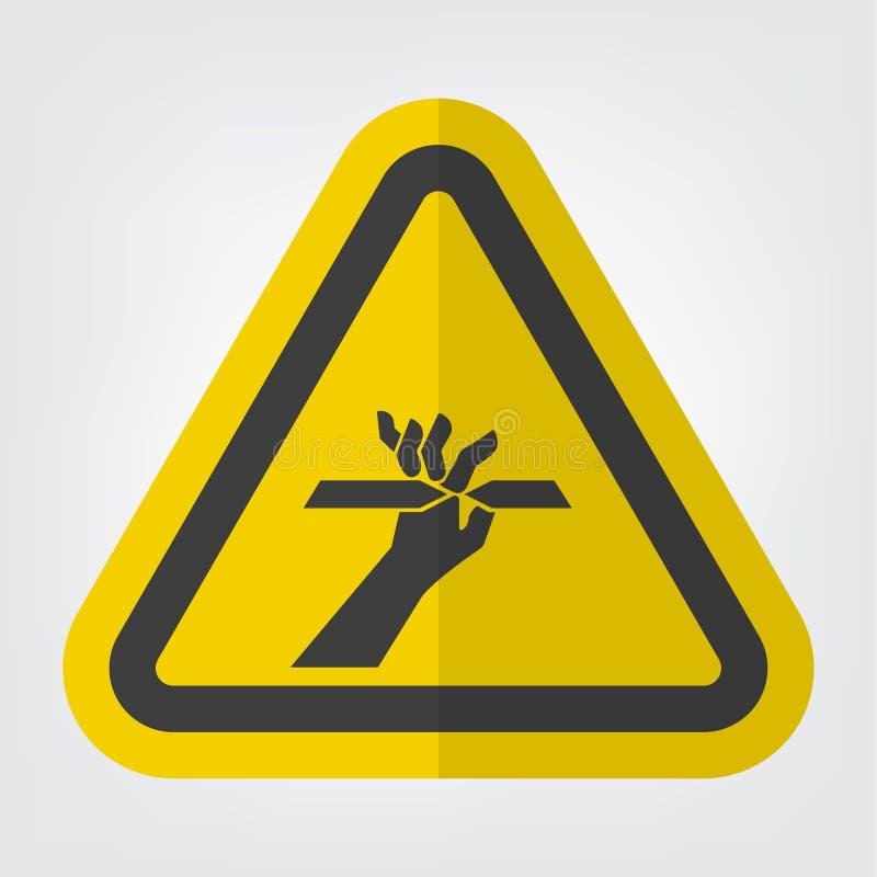 Corte do isolado do sinal do símbolo dos dedos no fundo branco, ilustração EPS do vetor 10 ilustração royalty free