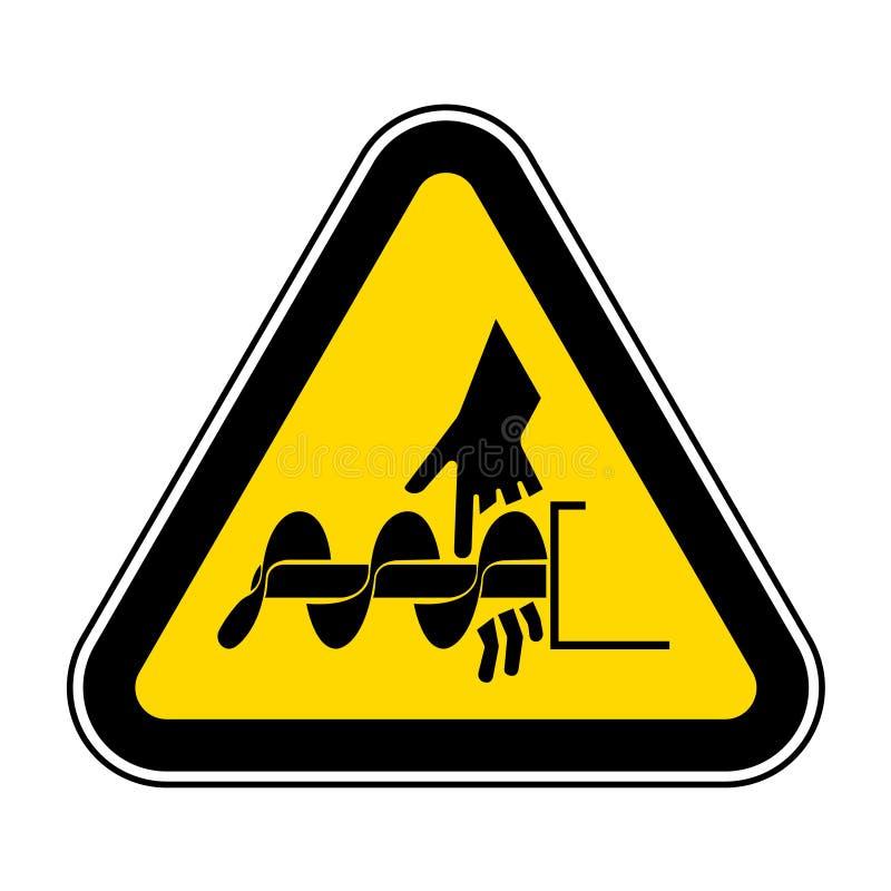 Corte do isolado do sinal do símbolo dos dedos ou do eixo helicoidal de mão no fundo branco, ilustração EPS do vetor 10 ilustração stock