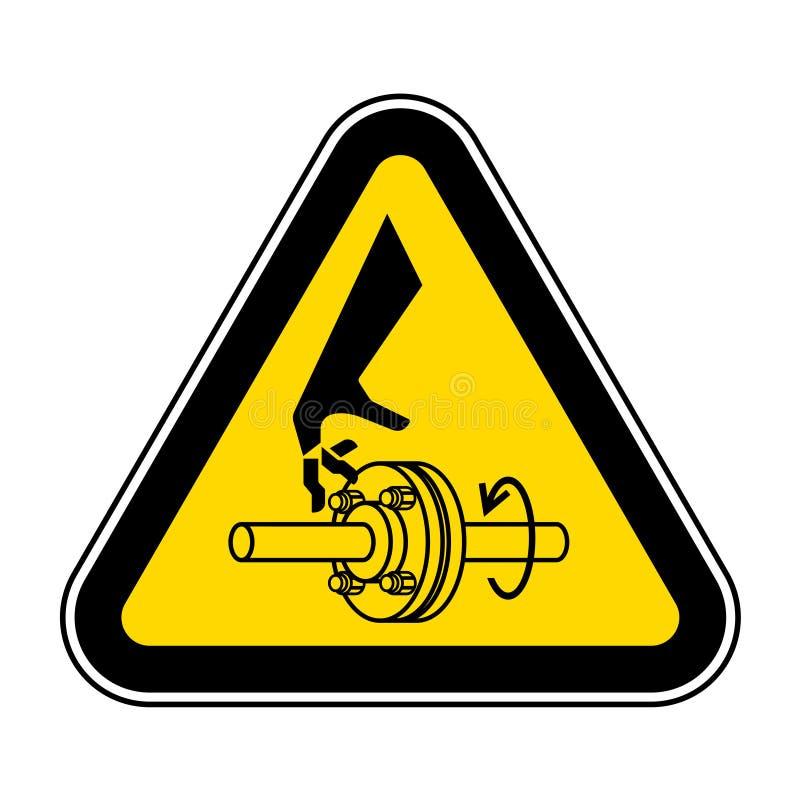 Corte do isolado do sinal do símbolo do eixo de gerencio dos dedos no fundo branco, ilustração EPS do vetor 10 ilustração do vetor