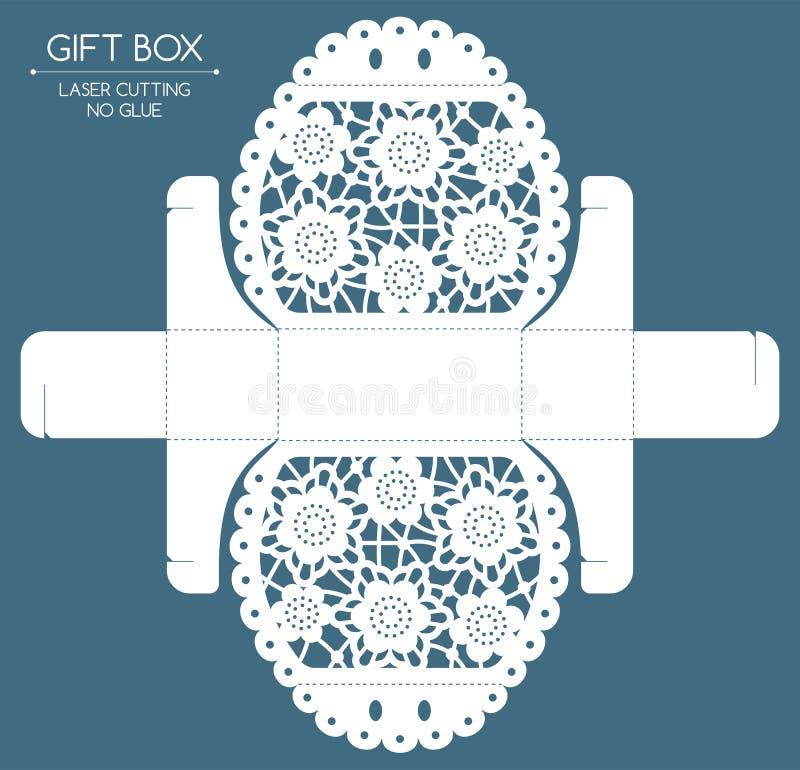Corte do laser da caixa de presente ilustração royalty free